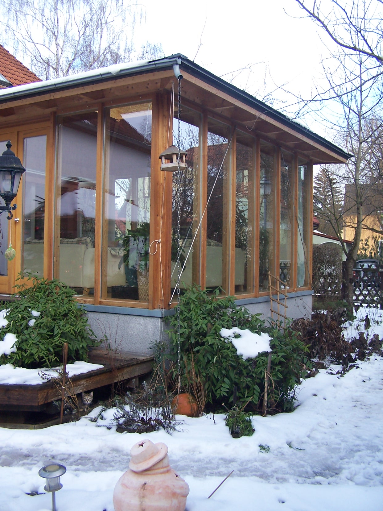 ein wintergarten aus holz und glas neudietendorf. Black Bedroom Furniture Sets. Home Design Ideas