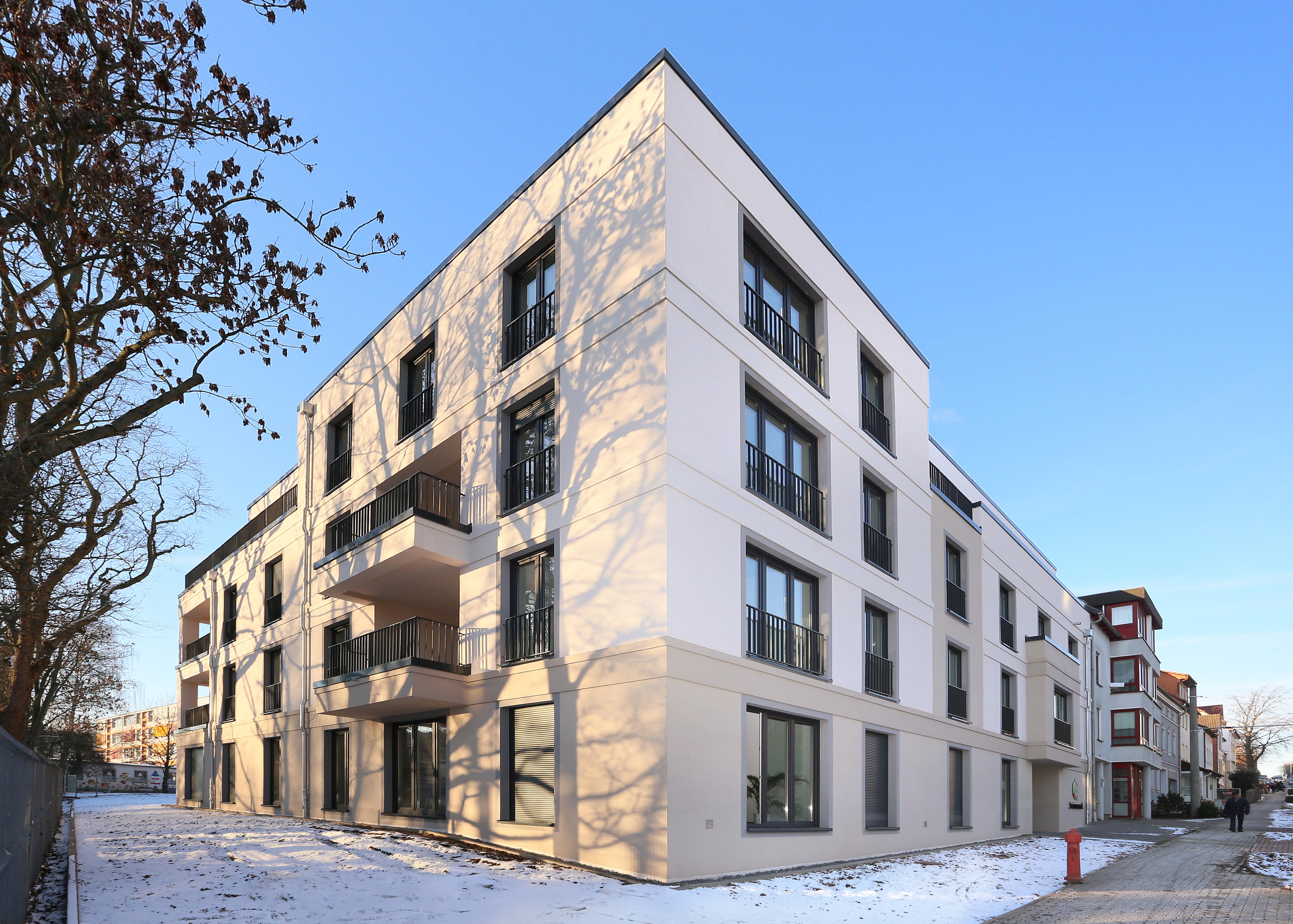 Architekt Nordhausen neubau stadthaus mit büroräumen und wohnungen in nordhausen